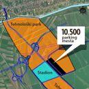 MAPA NACIONALNOG STADIONA Otkrivamo lokaciju fudbalskog terena, tehnološkog parka, parkinga