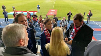 Premijerka Brnabić i njena partnerka bodrile reprezentaciju Srbije u Luksemburgu