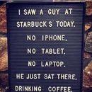Психопат на кафе