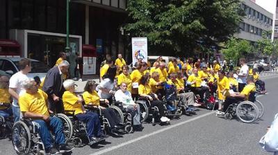 Марш за Денот на параплегијата и дистрофијата во Скопје