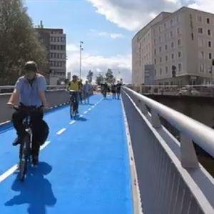 НЕВИДЕН ЛУКСУЗ Велосипедистите во Германија добија мост со подно греење