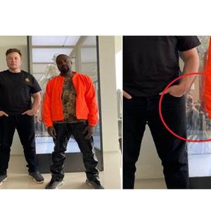 """Кање Вест позираше со маж, а детал во позадината го """"украде"""" вниманието"""
