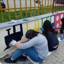 """Со ѕидни цртежи учениците од ОУ """"Санде Штерјоски"""" го разубавија училиштето"""