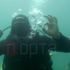 Ја запроси на дното од Охридско езеро, филмска и уникатна сцена!