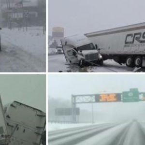 Снежна бура предизвика неред - откажани над 500 летови, луѓето се плашат да излезат надвор