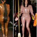 Убавината има своја цена: Ким покажа како се облекува латекс костимот (ВИДЕО)