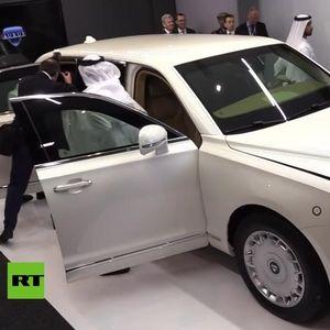 Лимузината на Путин изложена на саемот за оружје во Абу Даби