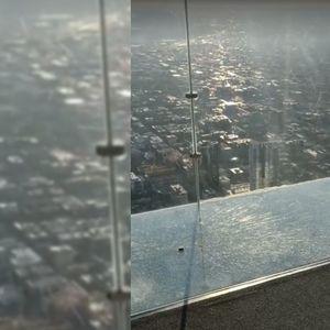На највисоката зграда во Чикаго пукна стаклото на балконот