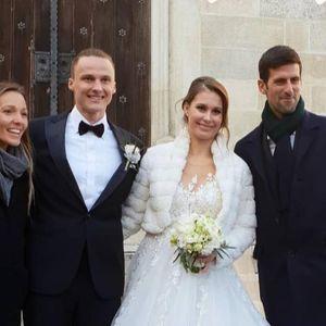 (Фото) Новак Ѓоковиќ на свадба кај ќерката на тренерот