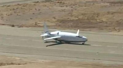 Авион во форма на куршум тајно тестиран во Калифорнија