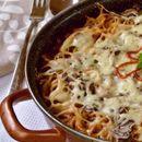 Потпечени шпагети со туна