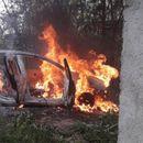 Мерцедес на арачиновец се запали на патот Градско – Прилеп