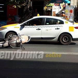 """Предмалку сообраќајка на """"Рекорд"""", повреден мотоциклист"""