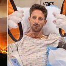 Грожан ги покажа изгорените рацете по несреќата во Бахреин