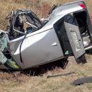 Stravična nesreća na izlazu iz Beograda! U sudaru dva automobila jedan završio na krovu