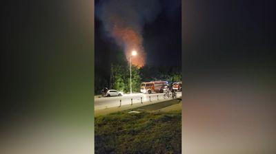 Пожар во напуштен објект во скопска Автокоманда