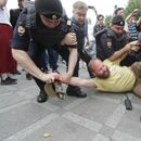 Russian police detain more than 400 at protest over journalist