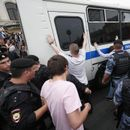 Russian police detain around 100 at Moscow journalist protest