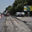 Град Скопје почна со менување на асфалтот на партизанска во карпош