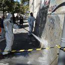 Град Скопје ги брише графитите со говор на одмраза