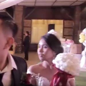Супертајфунот запре венчавка: Токму кога сакаа да танцуваат, се слушна тресок, сите врескаа и бараа спас