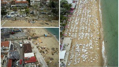 Хоророт на Халкидики снимен од воздух: Ова се вистинските размери на катастрофата што ја погоди Грција