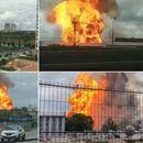 Голем пожар во електрана во Москва, има повредени