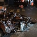 5-мина загинати во сообраќајка во Драчево - со возилото директно удрил во камион
