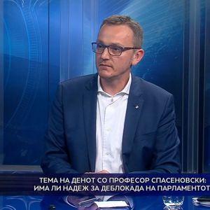 Тема на денот со професор Спасеновски: Има ли надеж за деблокада на парламентот?