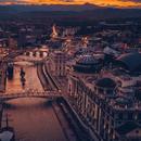 Скопје на залез