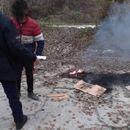 Малолетник палеше отпад во Вардариште