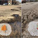Американец претвора дупки по патиштата Во мали уметнички дела