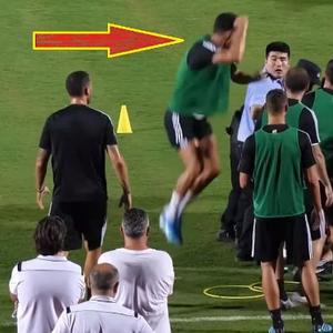(ВИДЕО) Навивач влета на тренингот на Јуве, Роналдо му се нафрли на полицаецот!