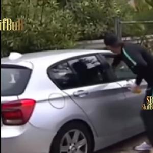 Роналдо во улога на крадец – ама буквално: Оперираше од автомобили