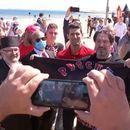 Ruski bajkeri čekali Novaka na plaži VIDEO