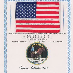 Apollo 11 flag, flight plan page and roll of film used on the Moon are up for auction