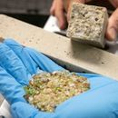 Researchers have discovered how to make concrete from recycled glass - by turning it back into sand