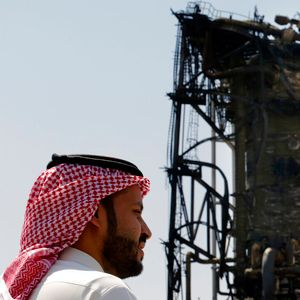 Saudi Arabia shows media scorched oil facility site hit by drones