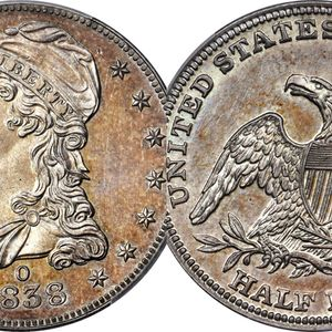 Rare 1838 half-dollar coin could be worth $500G at auction