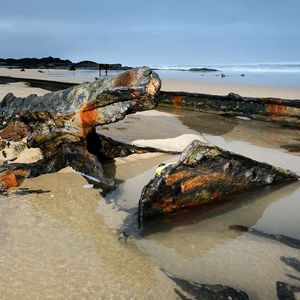 WWI German shipwreck spotted on English beach