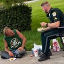 Photo of Florida sheriff's deputy eating lunch with homeless man goes viral