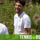 Усмивки и добро настроение: Гришо и Федерер заедно на тренировъчните кортове (снимки)