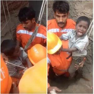 Потресна снимка! Детето неутешно плаче: Погледнете како спасувачите го извлекуваат од длабоката јама на градилиште по 16 часа