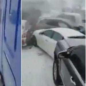 Катастрофален верижен судир: Поради снегот и мразот настана хаос, се судрија дури 47 автомобили