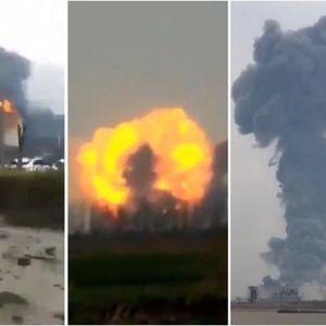 Голема експлозија во хемиска фабрика: Шест мртви, 30 тешко повредени! Црн чад на небото