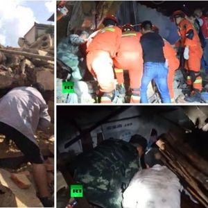 Серија земјотреси ја тресат Кина, 31 повреден! Погледнете го моментот кога сè се тресело!
