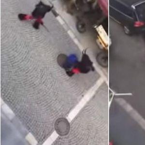 Мигранти провоцирале на парада, па го извлекле подебелиот крај: Учесниците маскирани во ѓаволи ги претепале со палки
