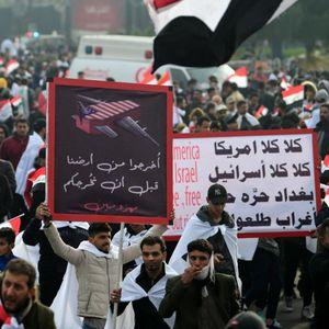 """Илјадници Ирачани на собир против американските трупи: """"Надвор окупатори"""""""