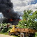 Со брза интервенција на пожарникарите изгаснат пожарот во близина на бензинска пумпа