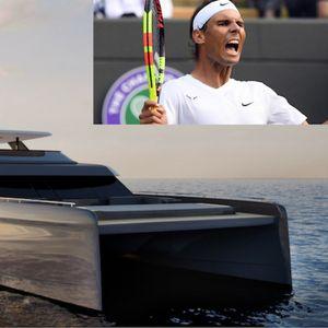 Надал искеширал 5 милиони евра за оваа ''ѕверка'' – скапоцената јахта има водопад на палубата, однадвор изгледа како НЛО...